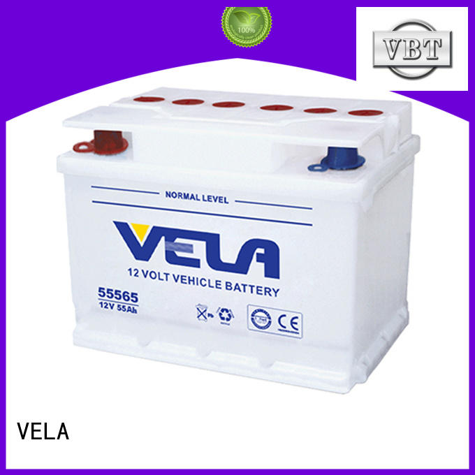 VELA long storage time dry cell car battery ideal for automobile