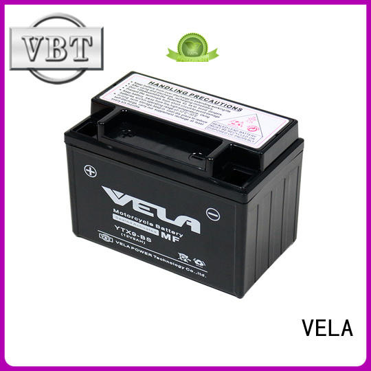 VELA wet charged battery great for motorbikes