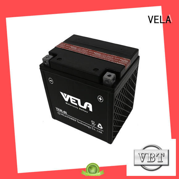 VELA convenient motorcycle maintenance free battery widely applied for motorcyles