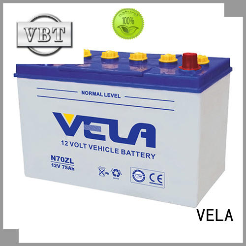 VELA car dry battery perfect for vehicle industry