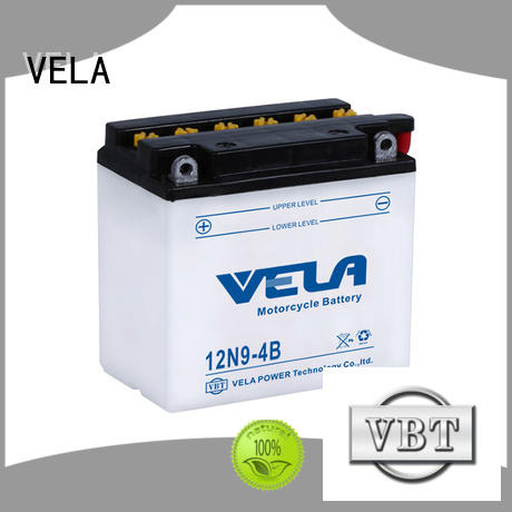 VELA reliable conventional battery excellent for motorcyles