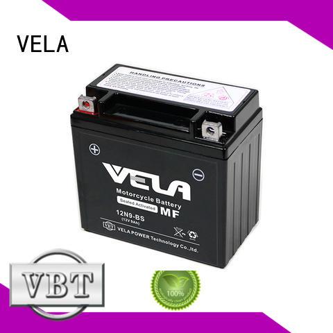 VELA good quality sealed maintenance free battery optimal for motorcycle industry