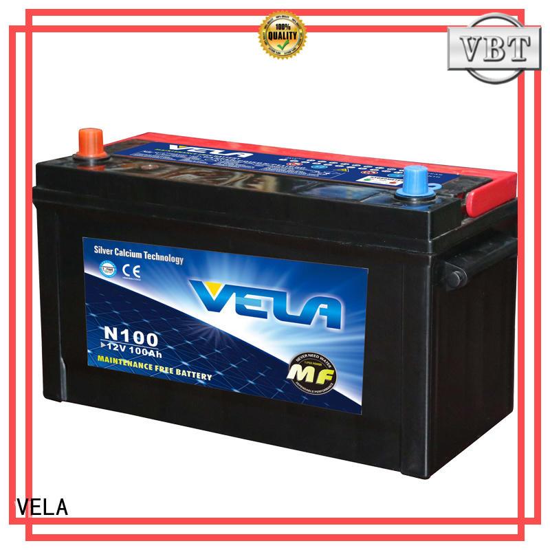 VELA high performance 12v car battery very useful for automobile