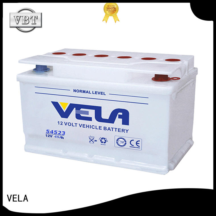 VELA car dry cell battery ideal for vehicle