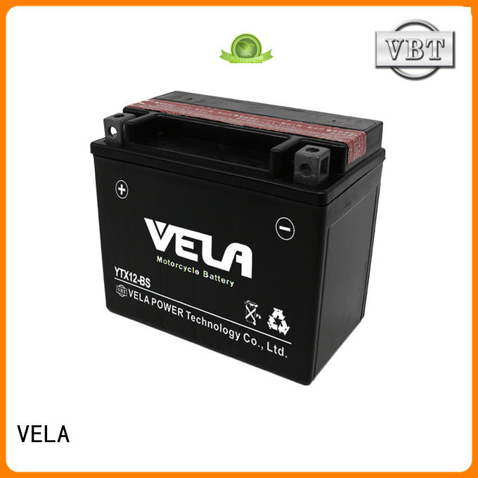 VELA dry charged battery satisfying for motorcycle industry