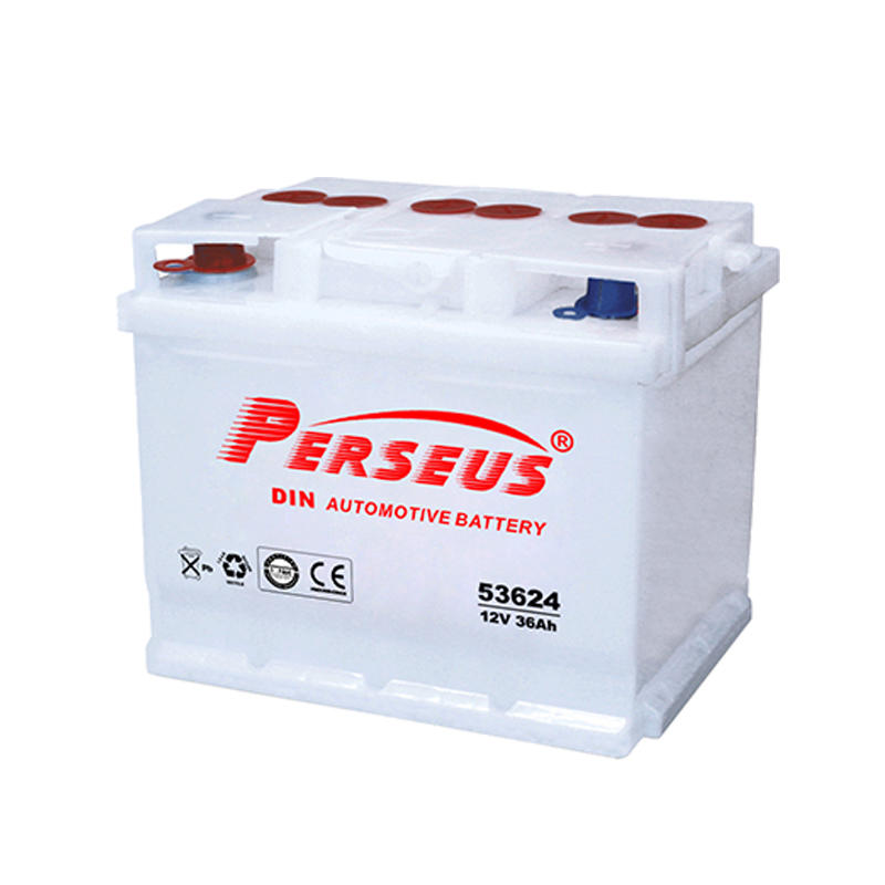 Dry charged small car battery 12V 36Ah DIN36L