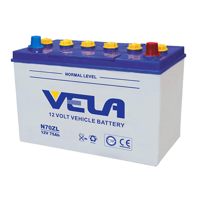 12V 75Ah auto battery rechargeable battery N70Z