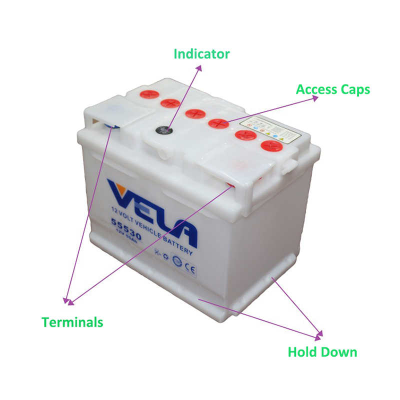 VELA car dry battery ideal for vehicle