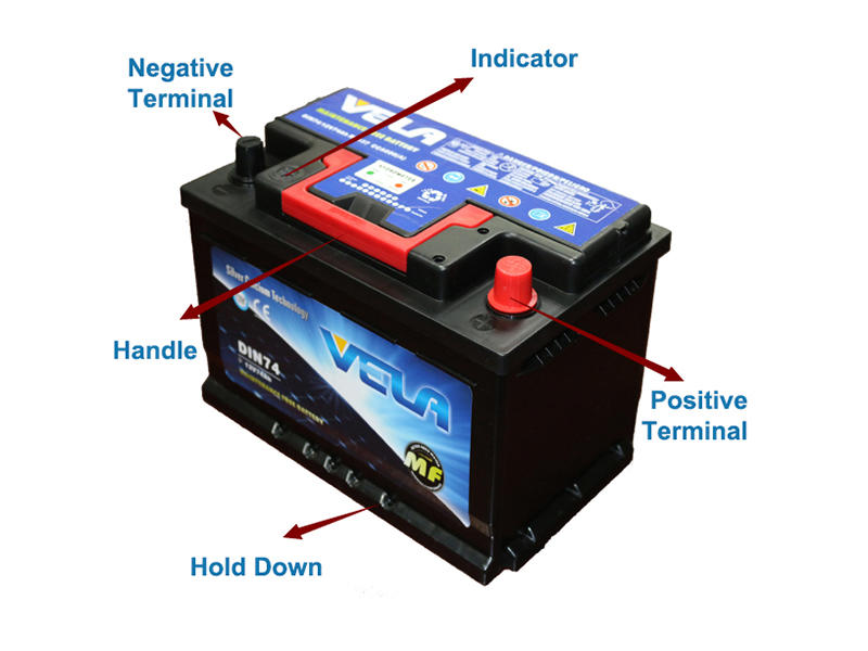 durable vehicle battery excellent for vehicle