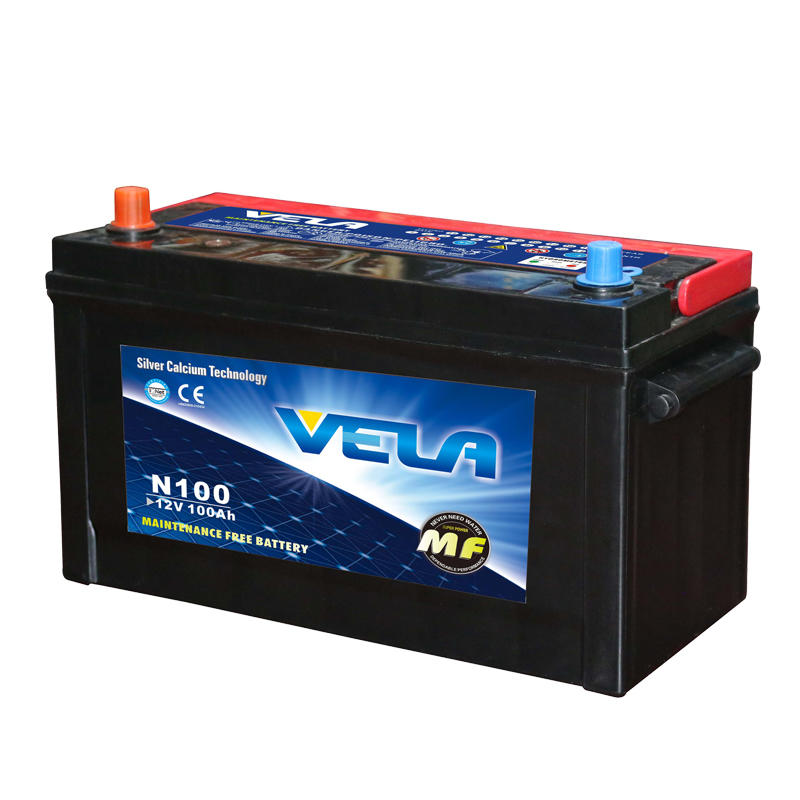 12V 100Ah maintenance free car battery N100L