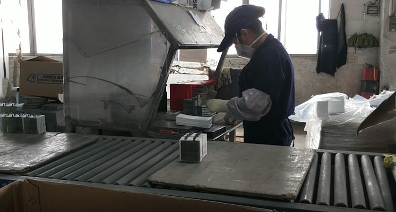 The AGM separators are in packing the plate