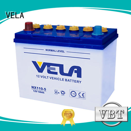 VELA good quality car dry cell battery vehicle