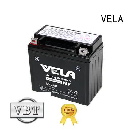 VELA good quality wet charged battery best for motorbikes