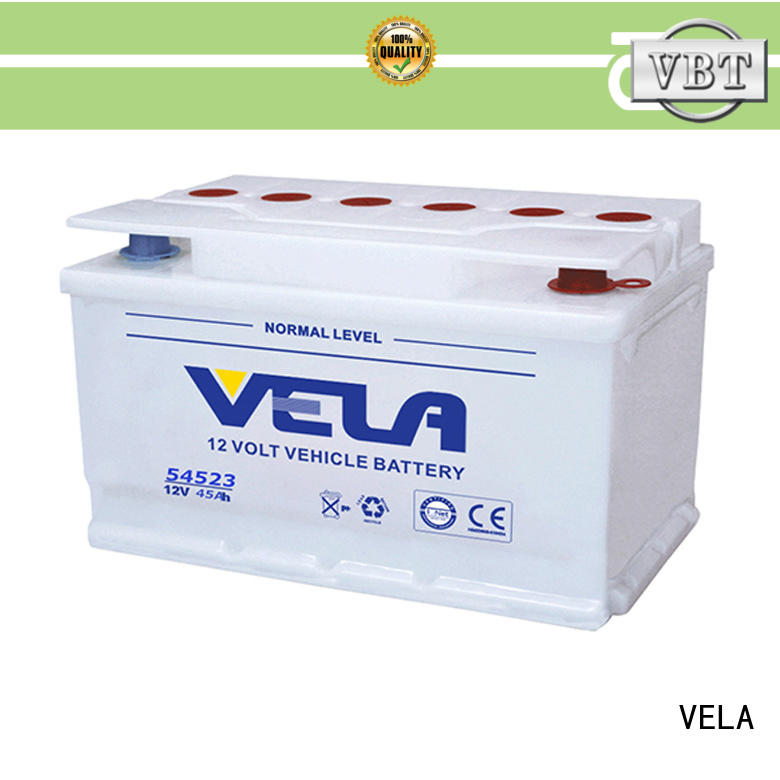 VELA professional car dry battery optimal for vehicle industry