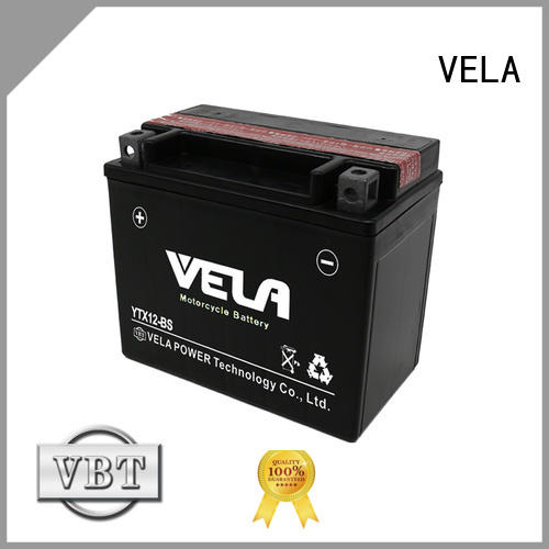VELA dry cell battery widely used for motorcycle industry