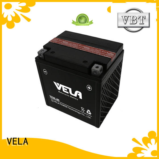 VELA dry cell battery optimal for motorcycle industry