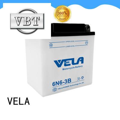 VELA safer transportation lead acid motorcycle battery excellent for motorcyles