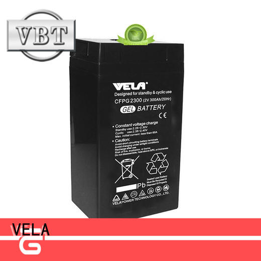 VELA maintenance free battery widely used for solar system
