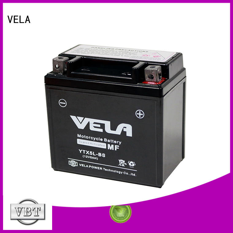 VELA wet charged battery best for motorcycle industry