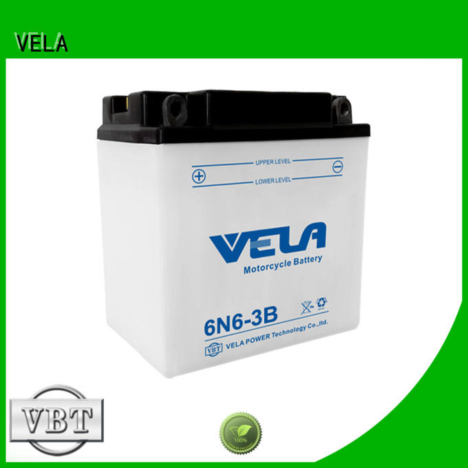 VELA dry charged battery needed for motorcycle industry