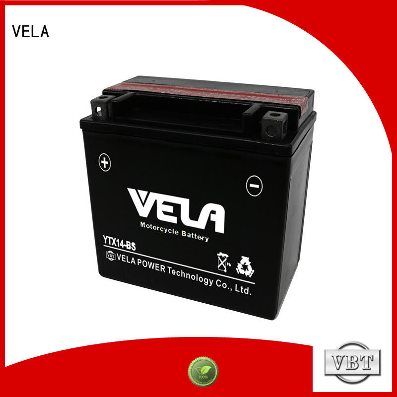 VELA dry charged battery widely applied for motorcycle industry