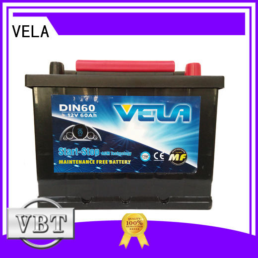 VELA reliable start-stop battery satisfying for automobile