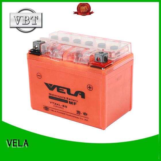 VELA motorcycle battery sizes perfect for motorbikes