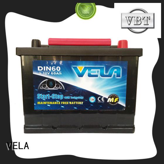 VELA durable start-stop battery indispensable for vehicle