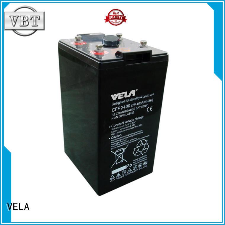 VELA industry batteries ideal for UPS system
