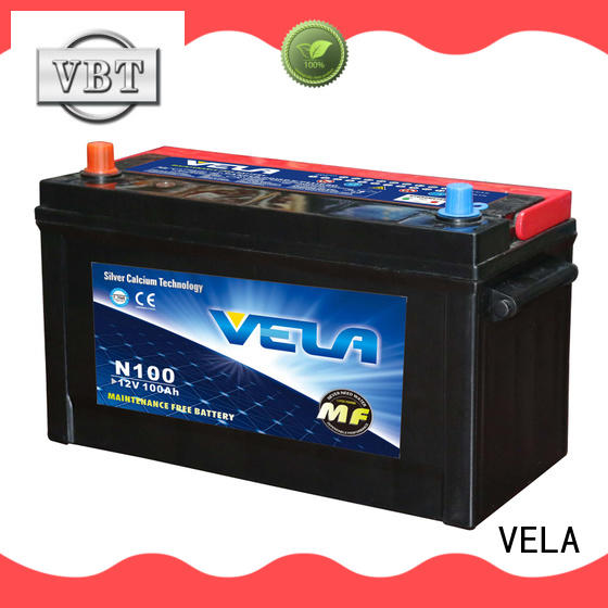 VELA maintenance free car battery needed for automobile
