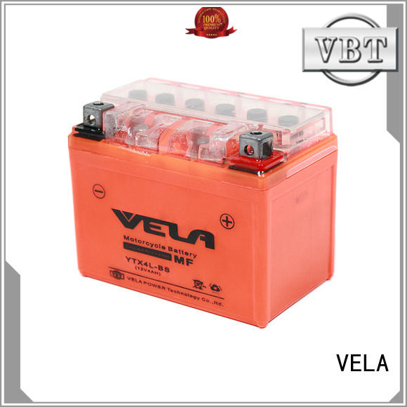 VELA environment friendly gel cell motorcycle battery ideal for motorbikes
