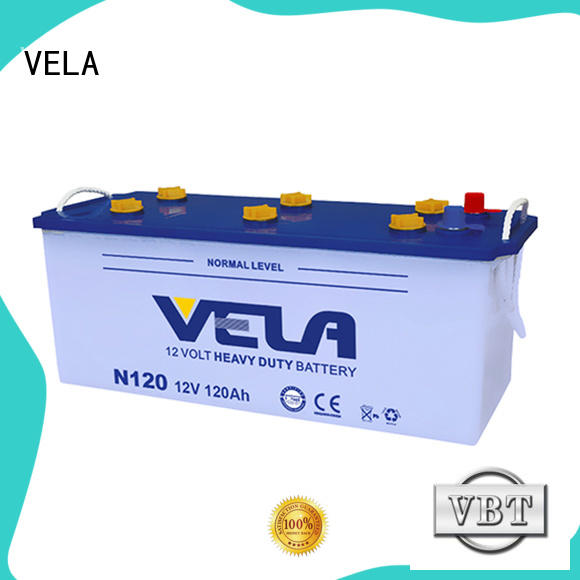 VELA hot sales truck battery excellent for automobile