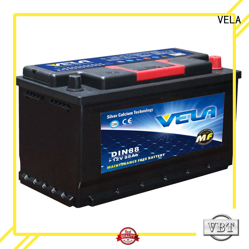 VELA maintenance free car battery very useful for car industry