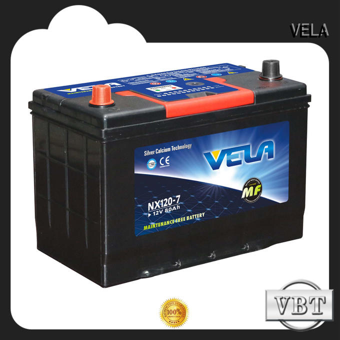 VELA reliable 12v car battery needed for automobile