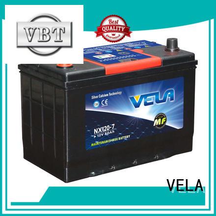 VELA maintenance free car battery excellent for car