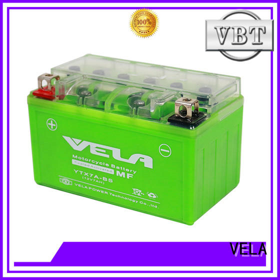 VELA longer cycle life maintenance free high performance motorcycle battery suitable for motorbikes