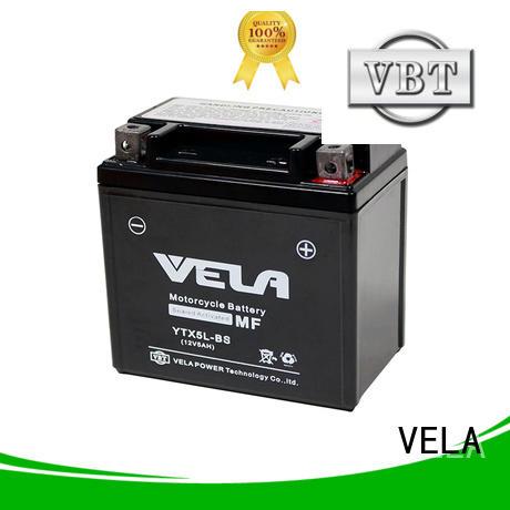 VELA wet cell battery best for motorcycle industry