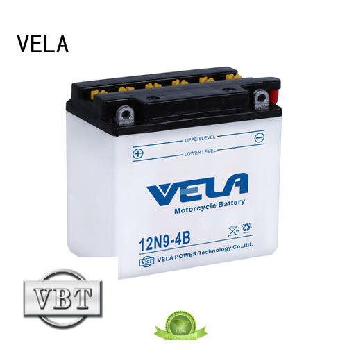 VELA safer transportation lead acid battery widely employed for motorcycle industry