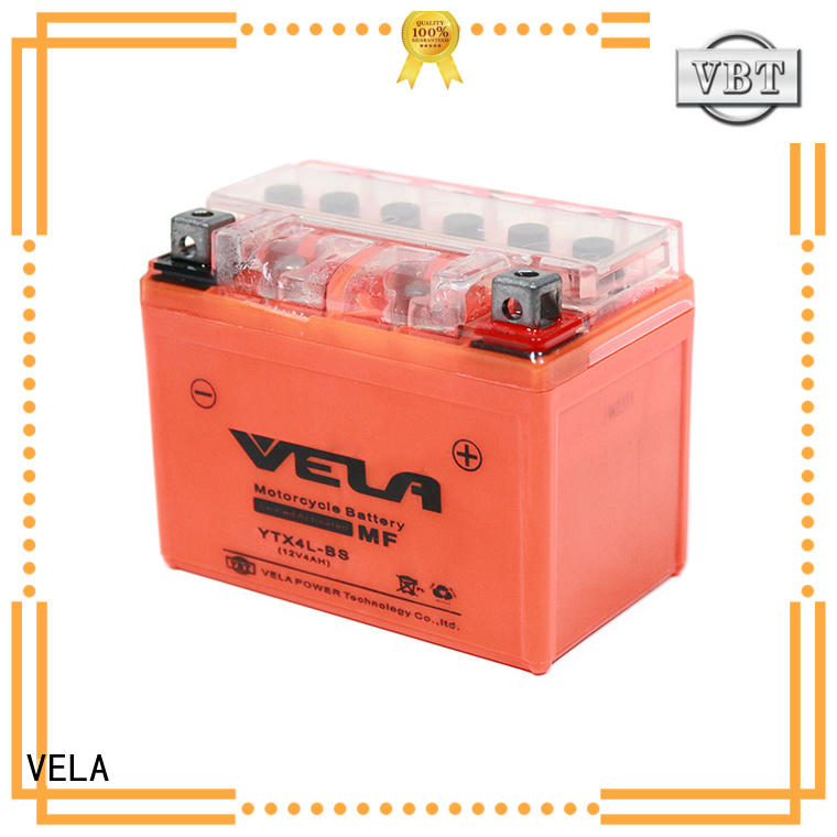 VELA motorcycle battery amp hours perfect for motorcycle industry