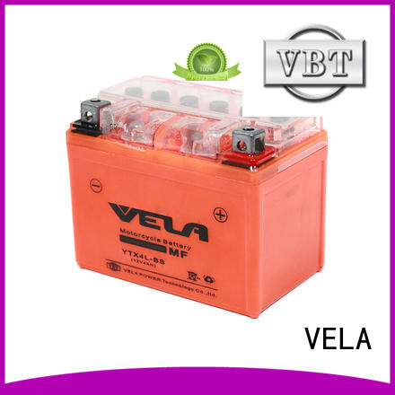VELA longer cycle life maintenance free high performance motorcycle battery popular for motorcycle industry
