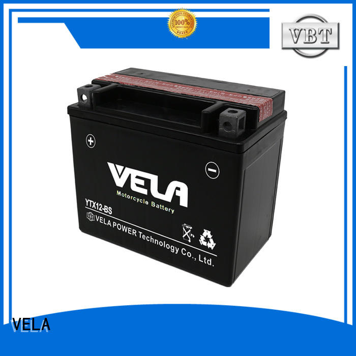 VELA high performance dry battery widely applied for motorbikes