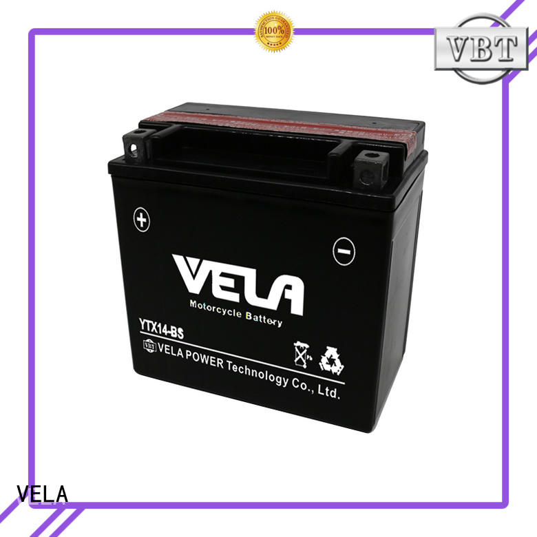 VELA dry charged battery widely used for motorcycle industry