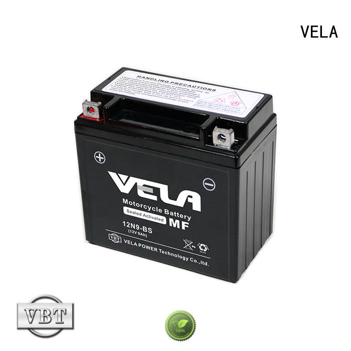 VELA good quality sealed motorcycle battery great for autocycle