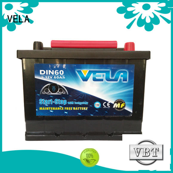 VELA advanced technology agm battery indispensable for automobile