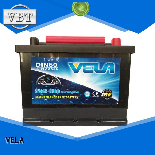 VELA professional agm start stop battery indispensable for vehicle