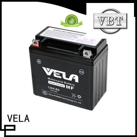 VELA maintenance free wet charged battery optimal for autocycle