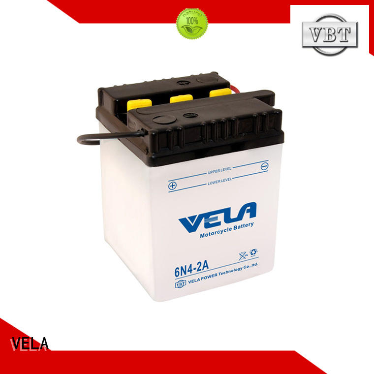 VELA reliable dry charged battery very useful for motorcycle industry