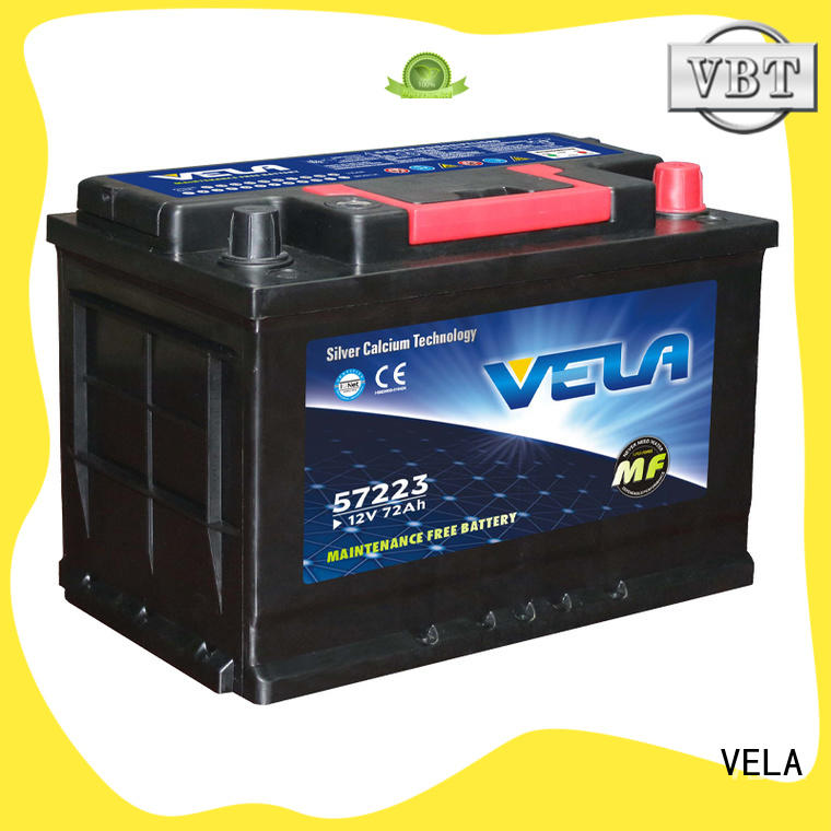 VELA car battery ah excellent for car industry