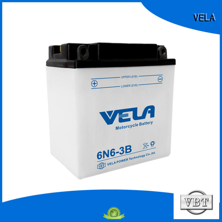 VELA professional lead acid battery widely employed for motorcyles