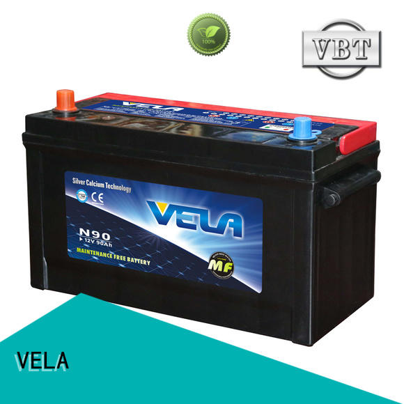 VELA durable automotive battery widely employed for automobile